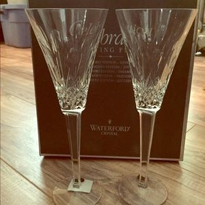 NEW NWT waterford crystal toasting flutes JOY